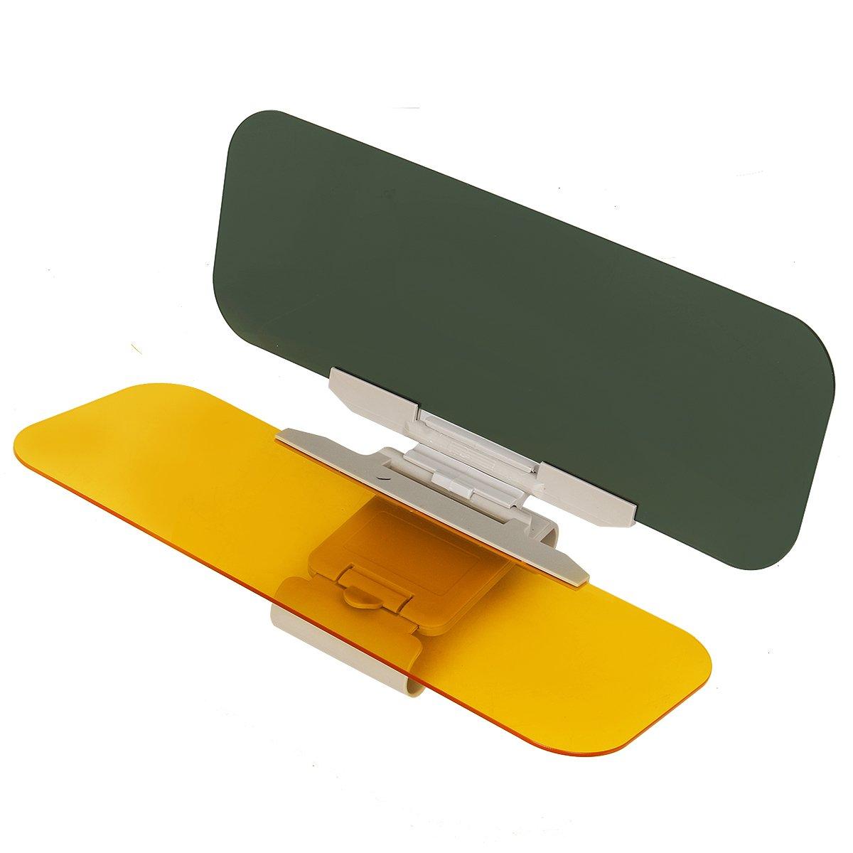 Cusfull Car Anti Glare Sun Visor Universal Anti Dazzle Driving Sun Visor Extension Day and Night Vision Eye Protector Windshield Extender