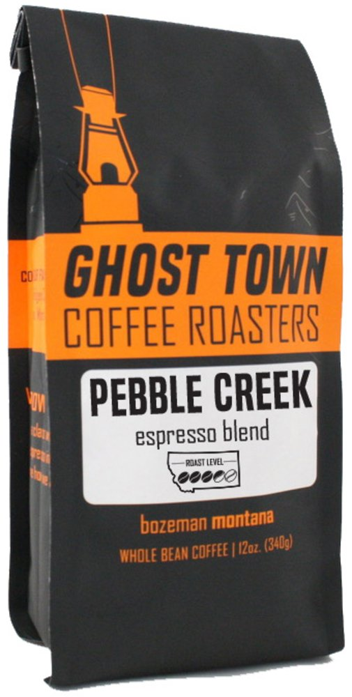 "Ghost Town Coffee Roasters ""Pebble Creek Espresso"" Medium Roasted Whole Bean Coffee - 5 Pound Bag"