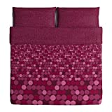 Ikea Smorboll King Duvet Cover and Pillowcases Dark Pink 702.898.56