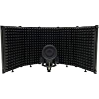 Foldable Adjustable Sound Absorbing Vocal Recording Panel Portable Acoustic Isolation Microphone Shield Sound-Proof…