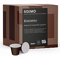 Marque Amazon- Solimo Capsules Ristretto, compatibles Nespresso*- café certifié UTZ, 100 capsules (2 x 50)