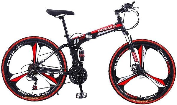 Lomsarsh Bicicleta de montaña, Bicicleta Plegable, Bicicleta de Carretera para Adultos, Deportes Plegables/Bicicleta de montaña de 26 Pulgadas, MTB - 21 velocidades: Amazon.es: Deportes y aire libre