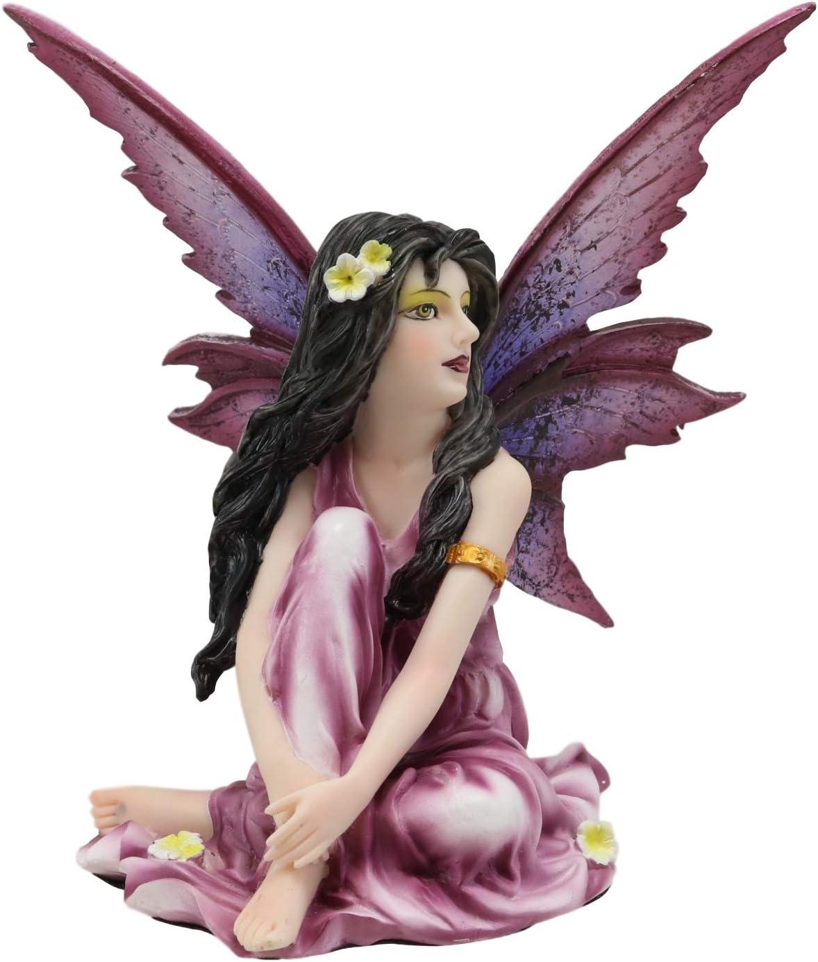 Purple Fairy 11x17 Original Art Print  Beautiful Anime Woman Fairy Digital Illustration Magic Purple Lovely Magical Fantasy Fairy Wings