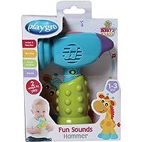 Manalo - Playgro Komik Sesler Çekiç - Renkli