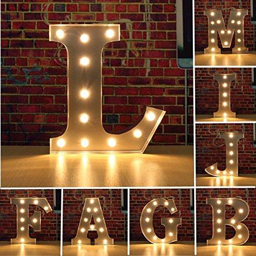 HTAIYN Weinlese-Metall-LED-Licht DIY Buchstabe A bis M-Zeichen-Karnevals-Wand-Festzelt-Dekoration popular popular popular (Farbe   Letter K) B07MJ3KKCD | Roman  db6e5c