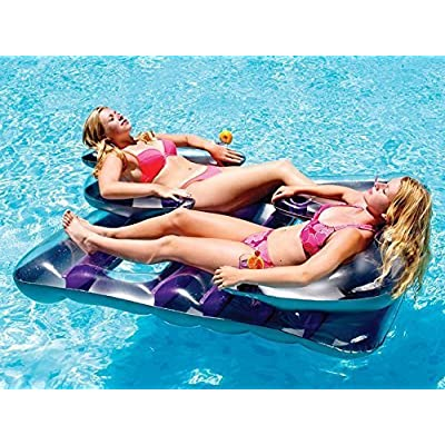 Face to Face Double Inflatable Swimming Pool Float: Garden & Outdoor