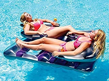 Lovely Face To Face Double Inflatable Pool Float