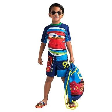 58987acd46ef Disney Lightning McQueen Swim Trunks for Boys