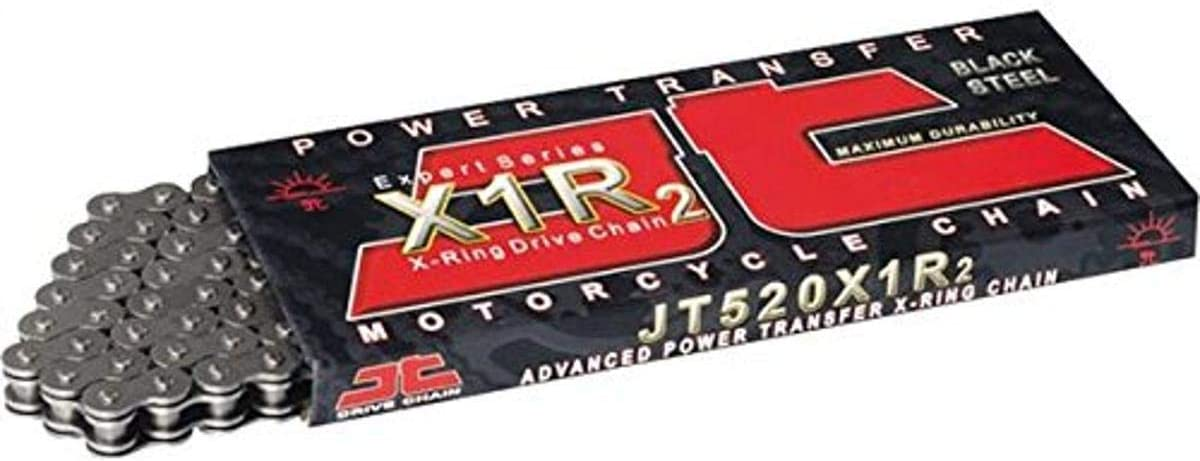 JT Steel X-Ring Heavy Duty Motorcycle Drive Roller Chain 520 X1R2 100 L Link