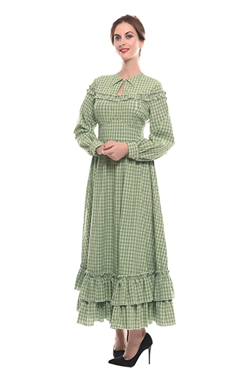 Victorian Clothing, Costumes & 1800s Fashion NSPSTT Women Girls American Pioneer Colonial Dress Prairie Costume $53.99 AT vintagedancer.com