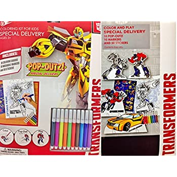 Transformers Coloring Kit For Kids Featuring Pop Outs Play