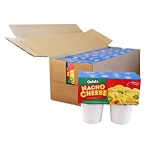 Gehl's Jalapeno Cheese Cups – 3.5 oz. Individual Single Serving Nacho Cheese Cups, Shelf Stable, Case of 24