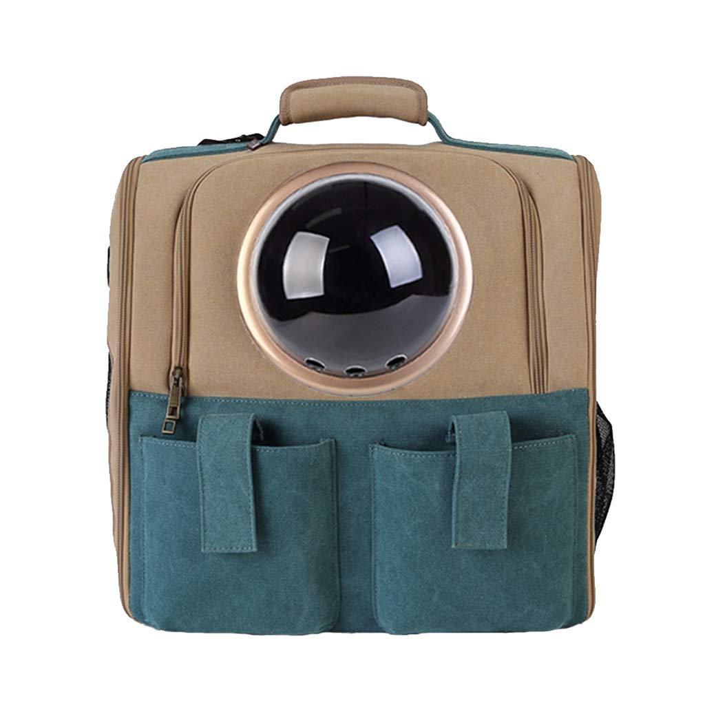 BROWN Pet Carrier Bag Large Pet Backpack Breathable Capsule Astronaut Bubble Pet Cat Dog Carrier Waterproof Travel Portable Premium Canvas Backpack (38cmX36cm) Portable Collapsible (color   BROWN)