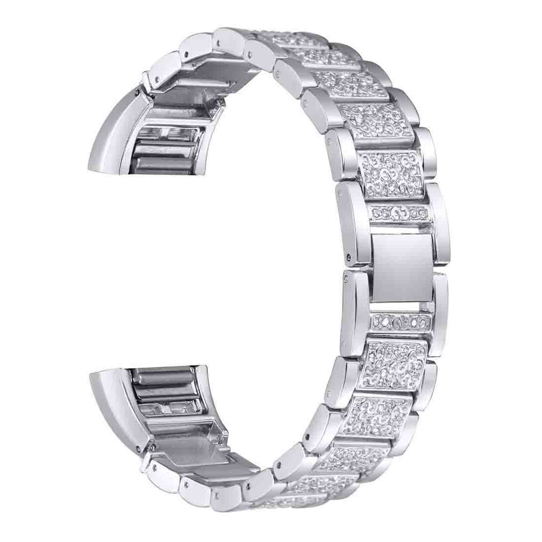 For Fitbit Charge 2, Replacement Metal Bands with Rhinestone Bling Fitbit Charge 2 Bands Bracelet (Original color)