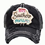 ''Hot Southern Mess'' Black Vintage Baseball Cap.