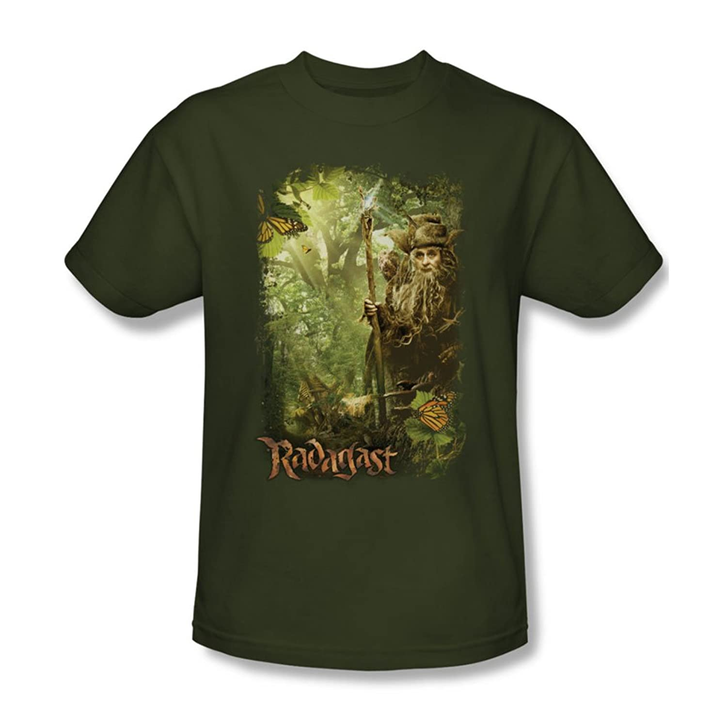 The Hobbit - Mens In The Woods T-Shirt In Military Green