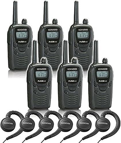 6 Kenwood TK-3230 Radios with 6 KHS-31 Headsets.