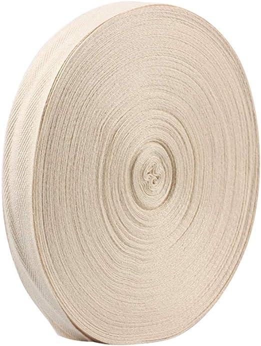 Zunbo - Cinta de sarga de algodón para coser, para manualidades, paquete de regalo, color beige: Amazon.es: Hogar