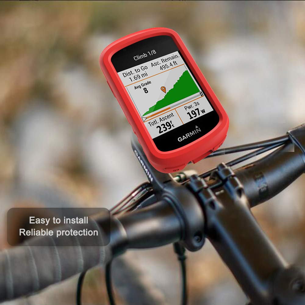 Cycling GPS Computer Accessories Anti Drop Silicone Protective Cover Black TUSITA Case for Garmin Edge 830