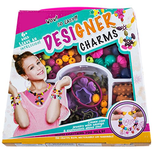 Jewelry Making Kit for Girls - Girls Jewelry Making Kit - Beads for Jewelry Making Kids - Pop Beads - Pop Snap Beads - Bracelet Making Kit - Arts and Crafts for Girls – Includes Over 190 Beads by Dooboe