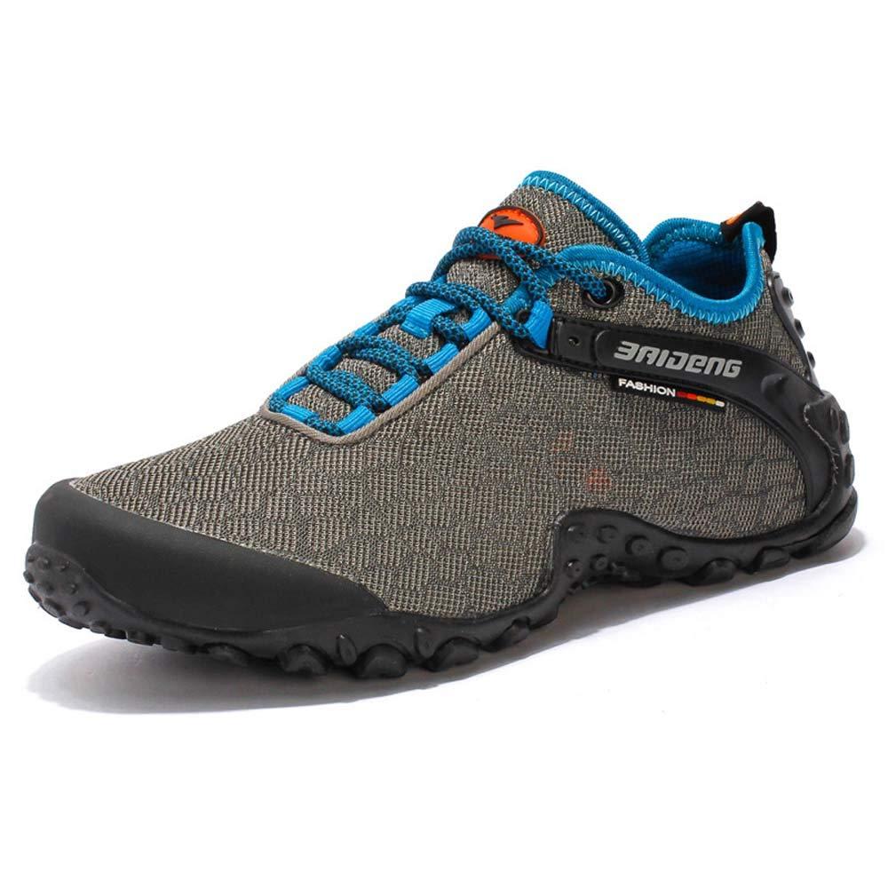 Zapatos de senderismo antideslizantes de malla transpirable Superficie Deportes y ocio Viajes de escalada Offroad Boots adecuado para deportes al aire libre ( Color : Khaki Orange , tamaño : 40 EU ) Gububi
