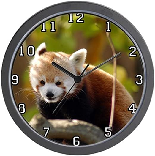 """Unique Decorative 10/"""" Wall Clock Giant Panda CafePress"""