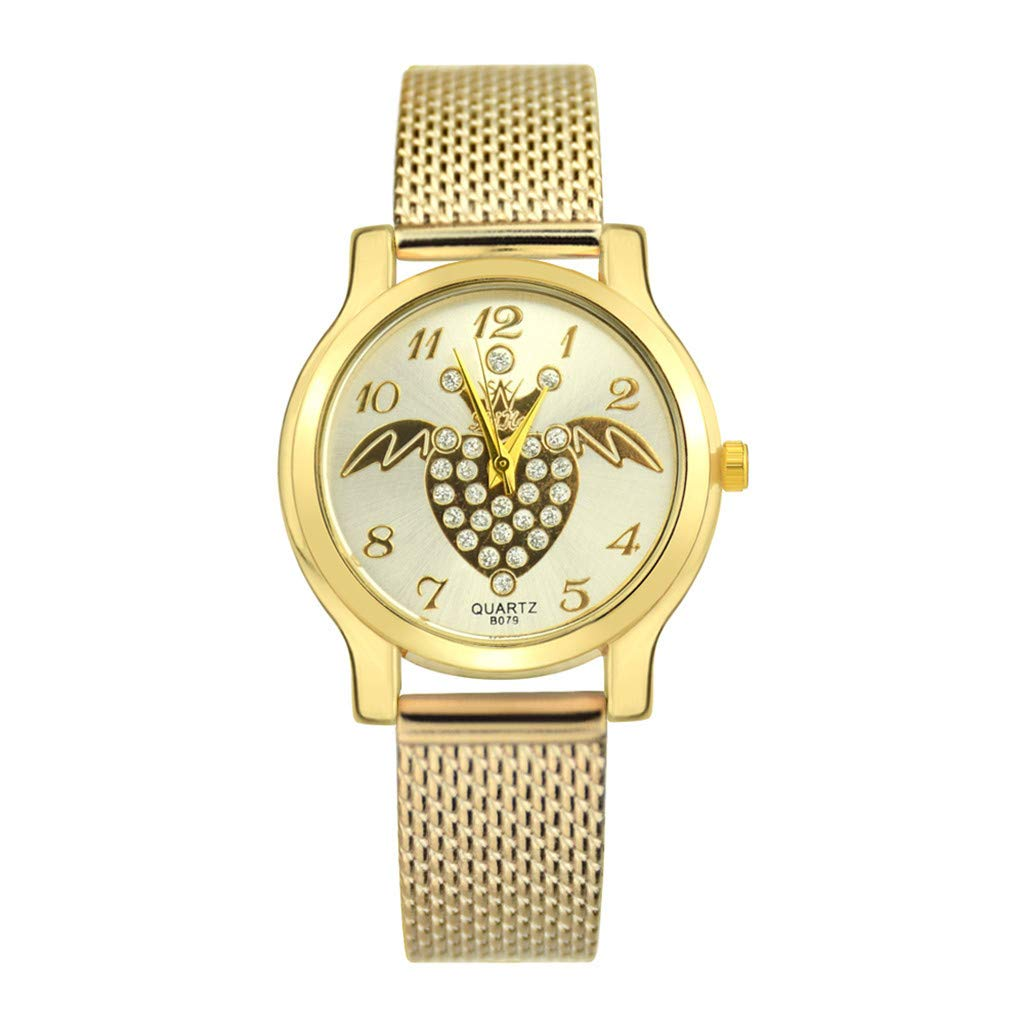 Toponly Women Watches Silicone Strap Round Case Analog Fashion Ladies Watch Wrist Watches