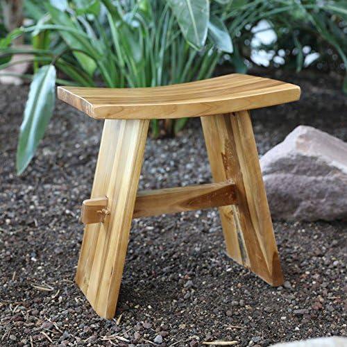 Taburete Bayou de madera Asiento Taburete Silla fussho Redecker – Silla de jardín taburete Madera taburete: Amazon.es: Hogar