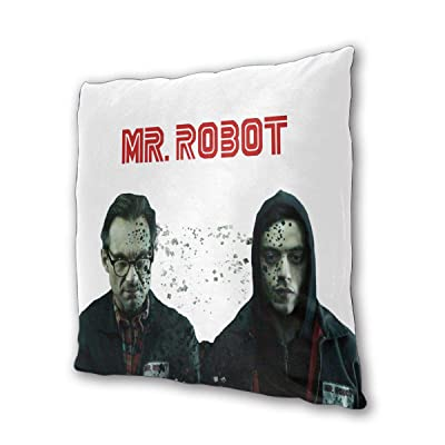 "NOT BRAND Mr. Robot Outdoor/Indoor Cushions 18.5""x 18.5"", 2 Pieces: Home & Kitchen"