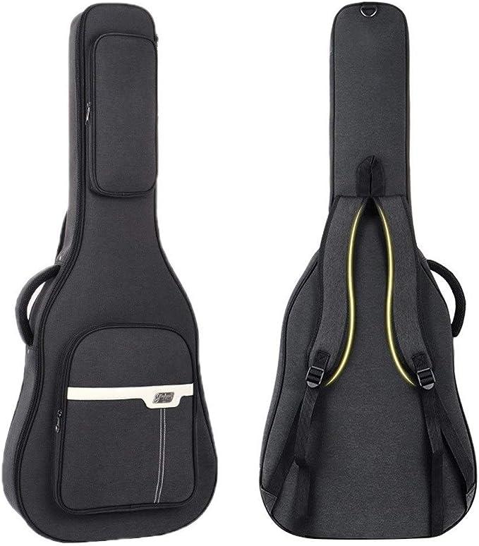 Color : Black-41inch 41 Inch Acoustic Guitar Backpack Black Musical Instrument Case Jiansheng01 Guitar Bag