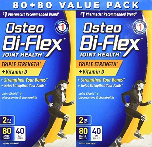 (Osteo Bi-flex Joint Care Triple Strength with Vitamin D, Twin Pack,80+80 by Rexall)