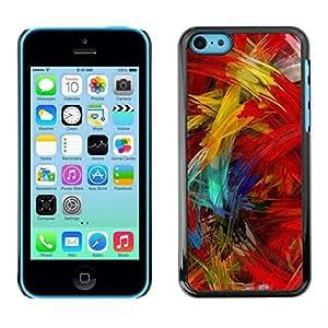 PC/Aluminum Funda Carcasa protectora para Apple Iphone 5C Paint Brush Colorful Artwork Oil Modern / JUSTGO PHONE PROTECTOR