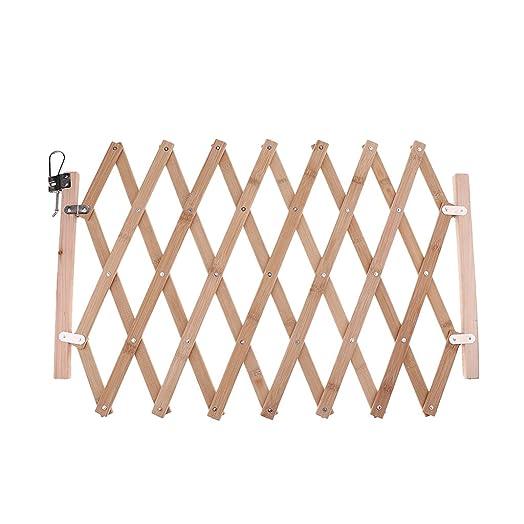Baosity Folding Dog Safety Fence Pet Isolation Gate Expanding Fence Outdoor Indoor