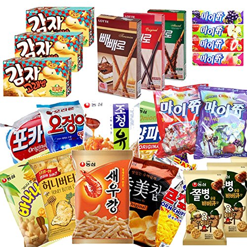 Korean Candy, Snacks and Food - Boxed Variety of Korean Favorites