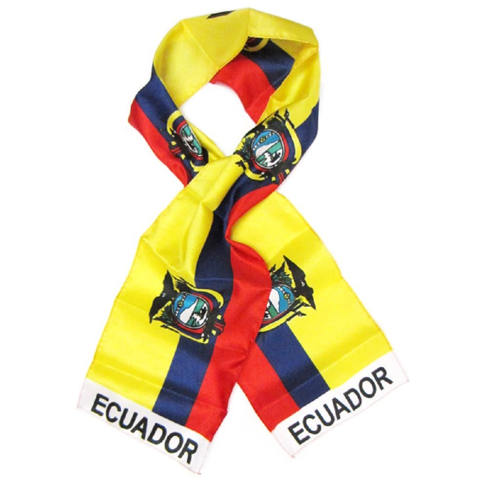 Ecuador Country Lightweight Flag Printed Knitted Style Scarf 8x60