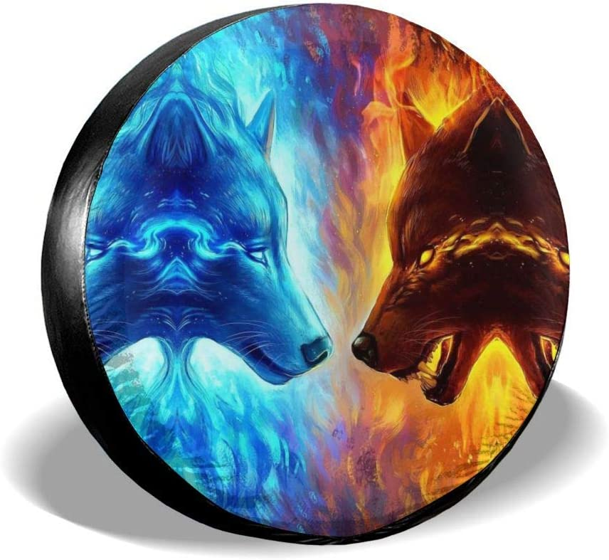 RV Foruidea 3D Animal Horses Spare Tire Cover Waterproof Dust-Proof UV Sun Wheel Tire Cover Fit for Jeep,Trailer SUV and Many Vehicle 14, 15, 16, 17 Inch