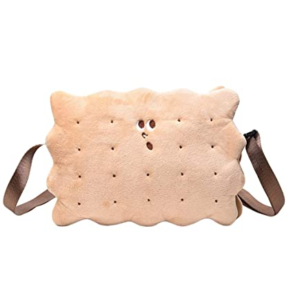 b36341aab7cd Amazon.com: Aland Lovely Sponge Shape Soft Crossbody Shoulder Zipper ...