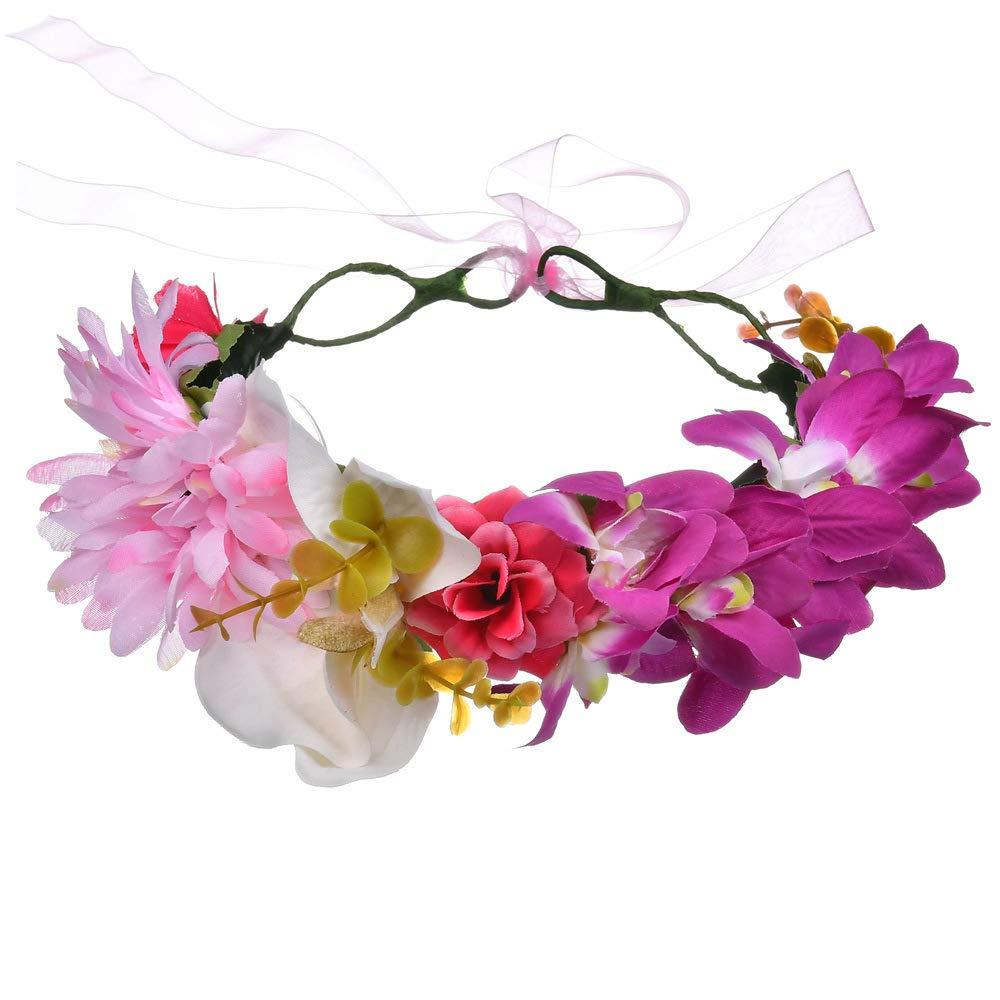 Green Fashion Bohemian Wedding Bride Bridal Headdress Floral Flower Garland Headwear Headbands