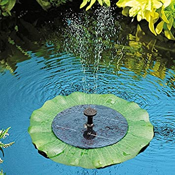 Charmant Solar Powered Lily Pad Outdoor Fish Pond Water Fountain