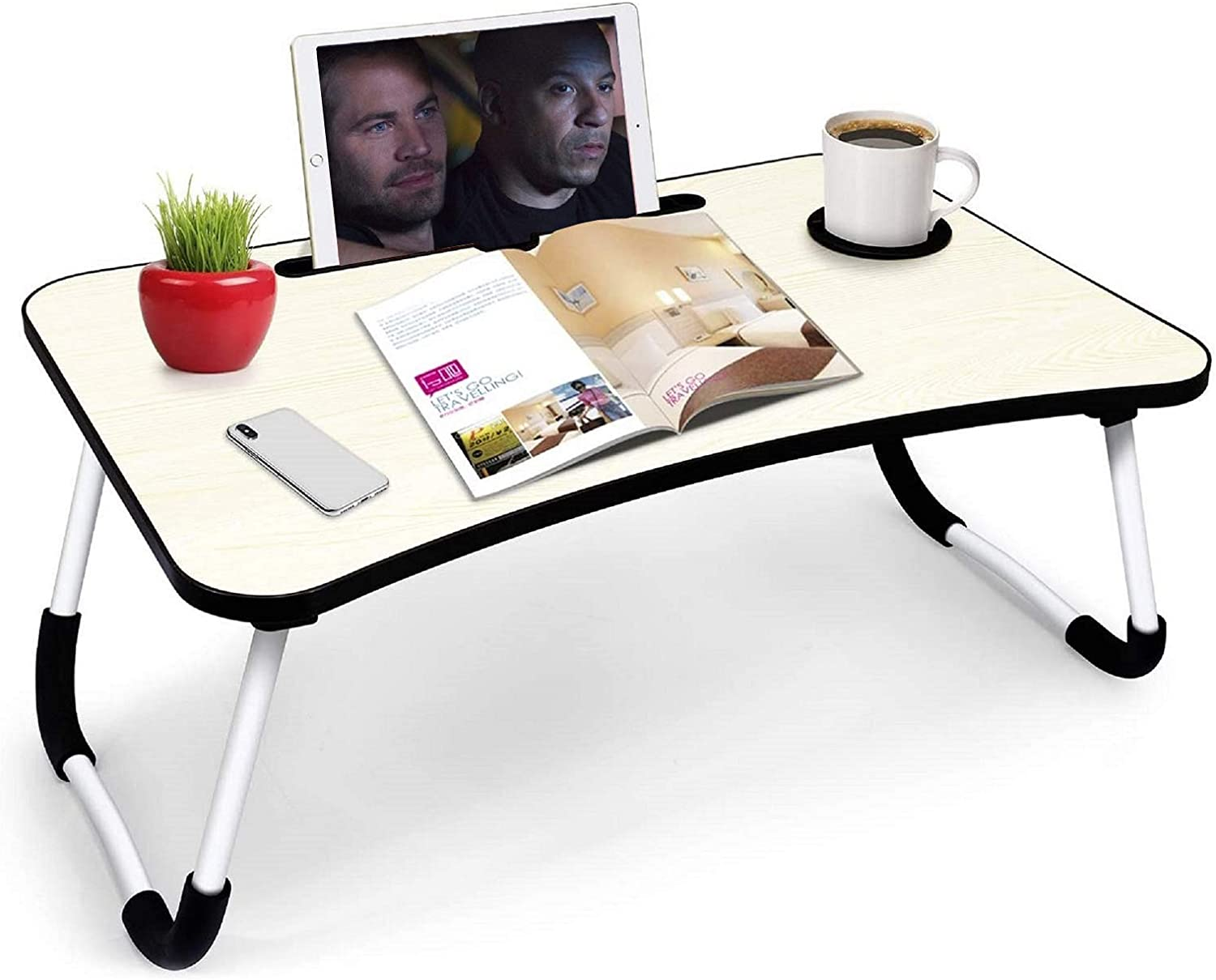 Bed Table,Laptop Lap Desk,Bed Table Tray Foldable Legs,Bed Table Tray for Writing Eating and Laptop,Laptop Desk Stand for Bed and Sofa