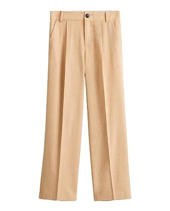 1044f92bee Amazon.com  MANGO Women Wool Suit Pants 43020848 Yellow  Clothing