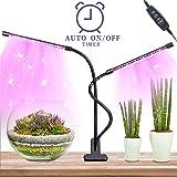 Led Piante-Led Grow Light per Piante Grasse con 40 LEDs,Doppia Testa Led Luce per Piante Lampada da Coltivazione Indoor, 360° Flessibile Collo di Cigno Lampada per Piante Grow Led
