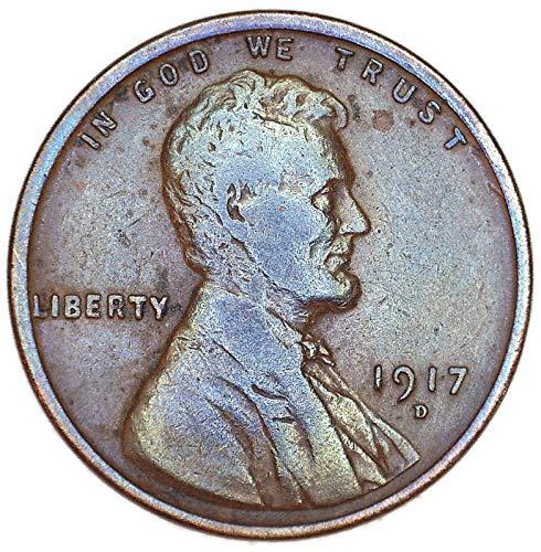 1917 D Toner Lincoln Wheat Cent Good