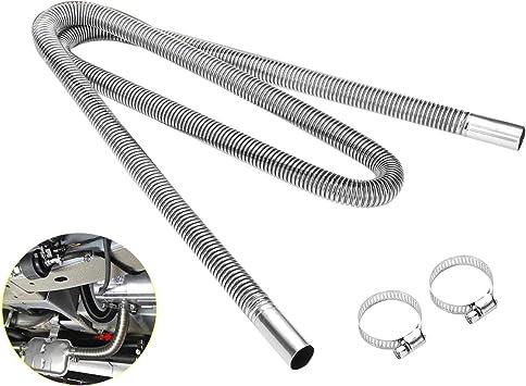 Acamptar 200cm Auto Luft Standheizung Auspuff Rohr Mit 2 Schellen Kraftstofftank Auspuffrohr Schlauch Für Roh öl Heizung Auto