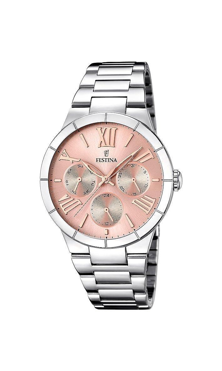 Festina F16716/3 - Reloj de cuarzo para mujer, con correa de acero ...
