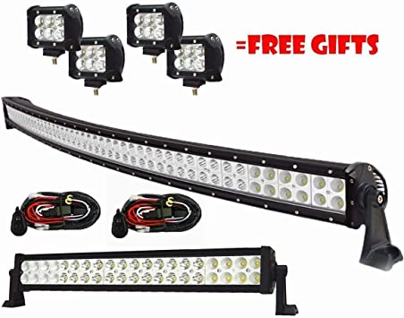 "4/"" 18W Pod Lights Off-road Ford ATV UTE Driving 22in 42/"" 240W LED Light Bar"