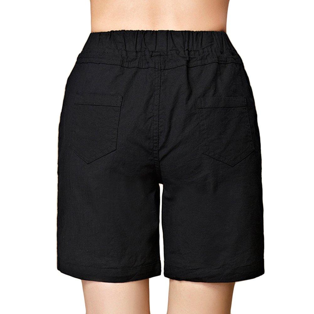 sandbank Women/'s Drawstring Casual Loose Elastic Waist Bermuda Beach Shorts