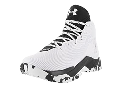 96c120022058 Under Armour Mens Curry 2.5 White Black Black Basketball Shoe 10 Men US