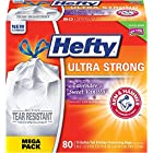 Hefty Ultra Strong Trash Bags (Lavender Sweet Vanilla, Tall Kitchen Drawstring, 13 Gallon, 80 Count)
