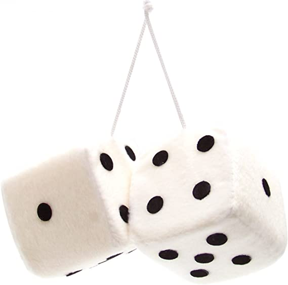 New Zebra And White Dots Car Dice